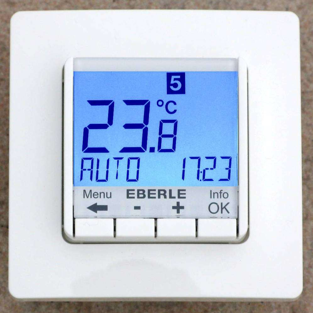 unterputz thermostat elekrische fussbodenheizung. Black Bedroom Furniture Sets. Home Design Ideas